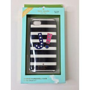 "kate spade new york iPhone 6/7/8 Initial ""J"" case"